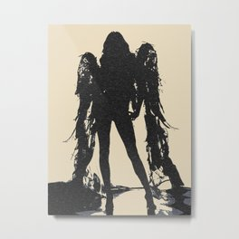 Angel of Death, hot erotic pop art illustration, sexy naked girl abstract stencil Metal Print