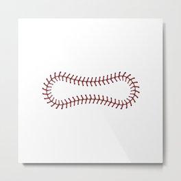 Baseball Lace Background Metal Print