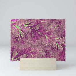 Magenta fractal Mini Art Print