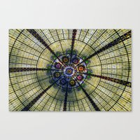 kaleidoscope Canvas Prints featuring Kaleidoscope   by Laura George