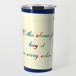 Good Advice on Shoes Travel Mug