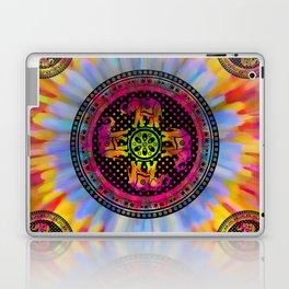 Psychedelic Elephant Mandala Pink Yellow Blue Laptop & iPad Skin