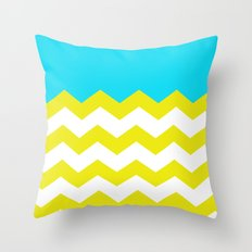 Bright Zig-Zag Throw Pillow