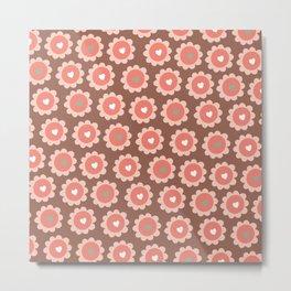 A cupcake full of love pattern wall art print Metal Print