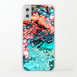 Multicolored Sequin Lot Clear iPhone Case