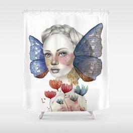 METAMORFOSIS (Fondo Blanco) Shower Curtain