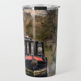 Moored Narrowboats At Newbury Travel Mug