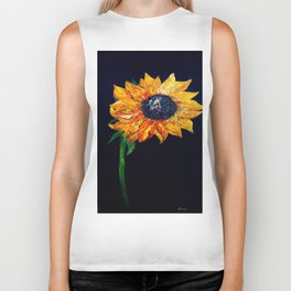 Sunflower Outburst Biker Tank
