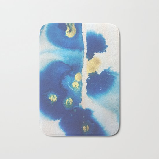 Cool Blues N Gold Bath Mat