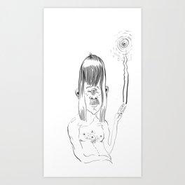 Peace-out Cyclops Art Print