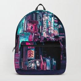 Heart Full Of Neon: Cyberpunk Overload Canvas Print Backpack