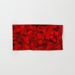 Rich Scarlet Red Gradient Abstract Hand & Bath Towel