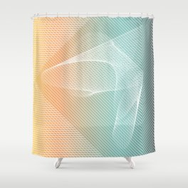 Ghostly Projections Shower Curtain