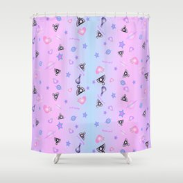 Stellar Vibes Collection Shower Curtain