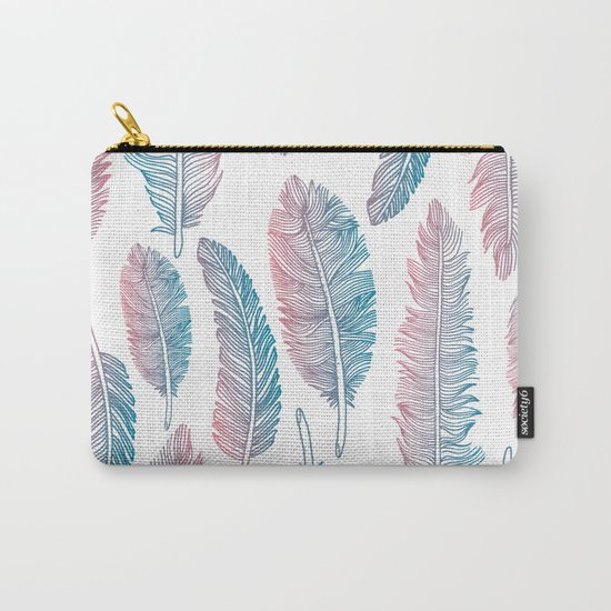 Boho feathers Carry-All Pouch