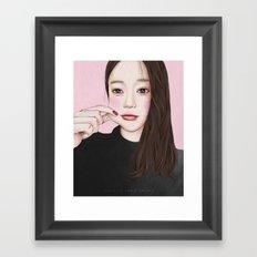 Pinches cheek Framed Art Print