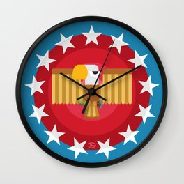 American (Blue) Wall Clock