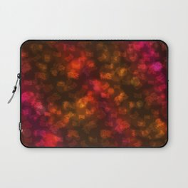 Abstract Autumn Leaves in Red Orange Laptop Sleeve