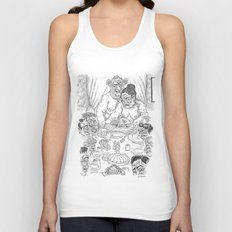 The Defamation of Normal Rockwell III (NSFW) Unisex Tank Top