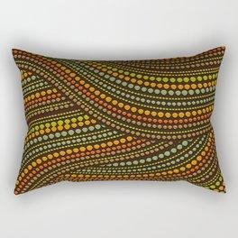 Dot Art Aboriginal Art #1 Rectangular Pillow