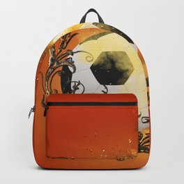 Soccer with fire Backpack