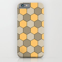 Honeycombs op art beige iPhone Case