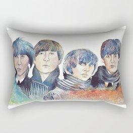 watercolor Beatle Rectangular Pillow