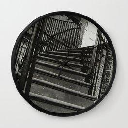Sideways Stairway Wall Clock