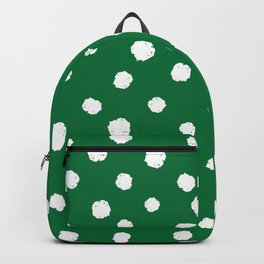 Hand-Drawn Dots (White & Olive Pattern) Backpack
