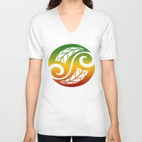 reggae V-neck T-shirts featuring Reggae Poloneisan by Lonica Photography & Poly Designs