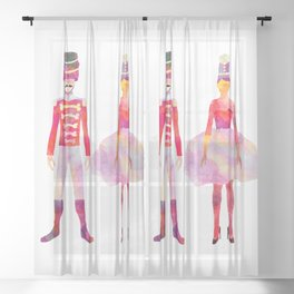 Nutcracker Ballet Sheer Curtain