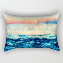 Sea And Sunset Rectangular Pillow