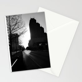 Morning in Downtown Stationery Cards