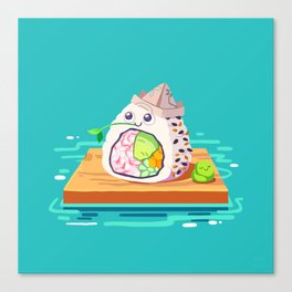 sailing sushi and 'sabi sidekick Canvas Print