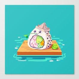 sailing sushi and 'sabi sidekick Canvas Print