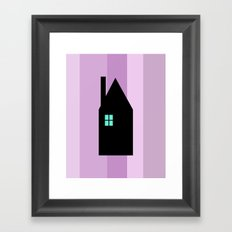 The House With The Turquoise Light On No.3 Framed Art Print