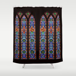Mary's Mountain Windows Shower Curtain