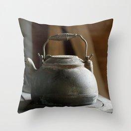 Old Iron Tea Kettle  Throw Pillow