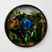 ukraine Wall Clocks featuring UKRAINE by lucborell