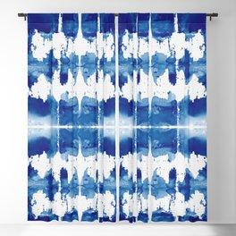 Shibori Tie Dye Indigo Blue Blackout Curtain
