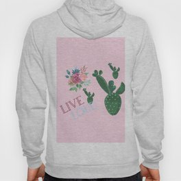 live loud with floral Hoody