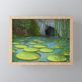 Giant Lily Pads Framed Mini Art Print