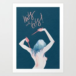 Hits With Tits! Art Print