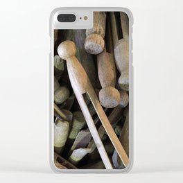 When Pins Were for Laundry, Not Images Clear iPhone Case