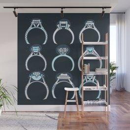 RINGS - BLUE PALETTE Wall Mural