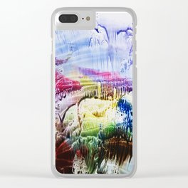 abstract composition of red and blue colours . artwork Clear iPhone Case