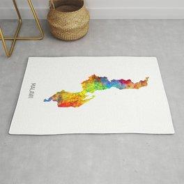 Malawi Watercolor Map Rug