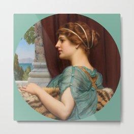"John William Godward ""A Pompeian lady"" (1) Metal Print"