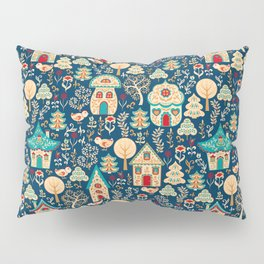 Fabulous Houses in a Magical Forest. Pillow Sham