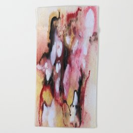 Abstract 1 by Saribelle Beach Towel